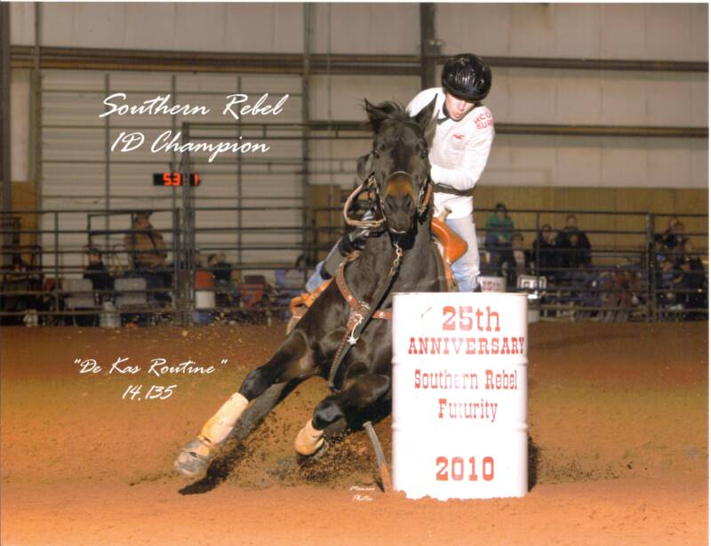 A Go Round 1D Win At The NBHA Youth World And Competed In Three 100000 Pro Tour Futurity Championships Riding For Fortune 5 Barrel Racing